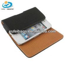 Black Leather Mobile Phone Bag