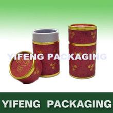 round edge curl paper tea can box