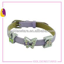 Wholesale Rhinestone Slider Charm Bracelet, 8mm Wildth