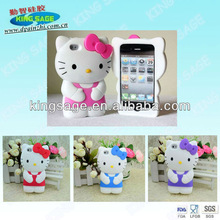 Hot 3D Hello kitty silicone phone case