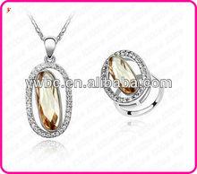 Newest diamond necklace Ring Jewelry set(T100514)