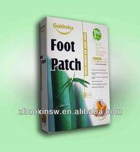 100% natural herbal detox foot patch can OEM(10pcs/box)