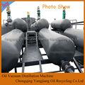 Venda quente segurança de óleo do vácuo processo de destilação/máquina