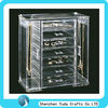 luxury acrylic makeup organizer with dividers plexiglass perspex jewelry case