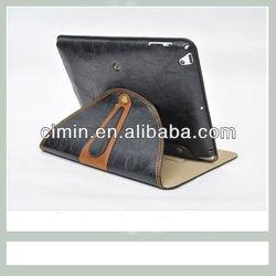 Custom design PU cases protective sleeve for iPad mini stand cover