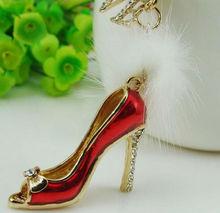 Red dance high heel shoes keychain