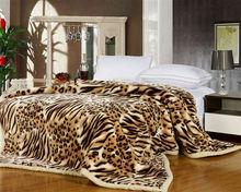 Animal leopard print mink blankets for sale