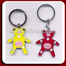 bear metal key ring