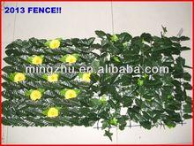 2013 factory Garden Fencing top 1 Garden decoration fence silver plated zinc alloy diamond clovers wholesale