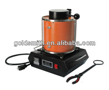 3kg Portable melting machine with graphite crucible and crucible tong,melting furnace for jewelry