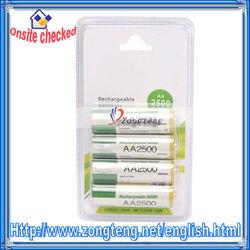 4Pcs High Capacity AA Ni-MH Rechargeable Battery 2500mAh 1.2V