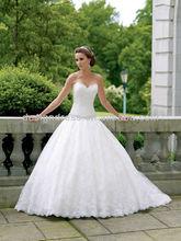 Sweetheart Lace Dress Wedding Court Train Crystal Beaded Wedding Belt