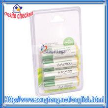 Hot Sale !! High Capacity 2500mAh 1.2V Rechargeable Battery AA NIMH 4Pcs