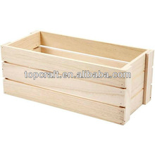 34cm Wooden Vegetable/Fruit Apple Crate Storage Craft Decorate/Personalise Art