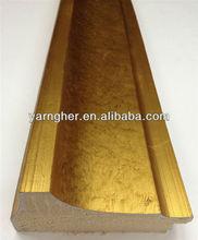 designer hot sale plaster gypsum gold/silver foil picture frames moulding