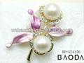 Barato al por mayor grande de la perla broches para la boda adornos de novia