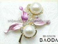 Cheap Wholesales Big Pearl Brooches For Wedding Bridal Ornaments