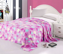New arrived printed coral fleece blanket/fabric/sheets/bathrobe