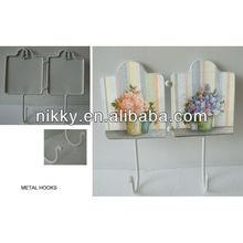 Decorative flower metal vintage coat hooks
