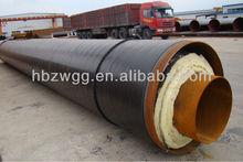 Astm A53 SSAW de tuyaux en acier avec isolation