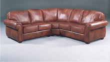 Imported Italian Leather Classic Sectional Corner Sofa