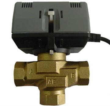 motorised 2-way/3-way brass valve
