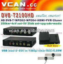 VCAN 2013 DVB-T2100HD tablet SD DVB-T mpeg4 h264 digital tv box-internet tv box uk