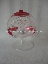 light up glass flat ball