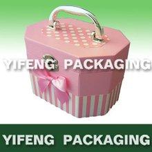 briefcase shape pink cardboard box