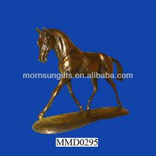 Hot selling resin running bronze antique horse