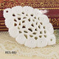 White Flower Flatback Horse Eye Resin Accessories Jewelry supplies