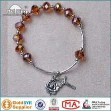 handmade glass rosary bangles/bracelets
