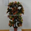 Planta Artificial Croton Codiaeum vector variegatum hermosa hoja de la planta