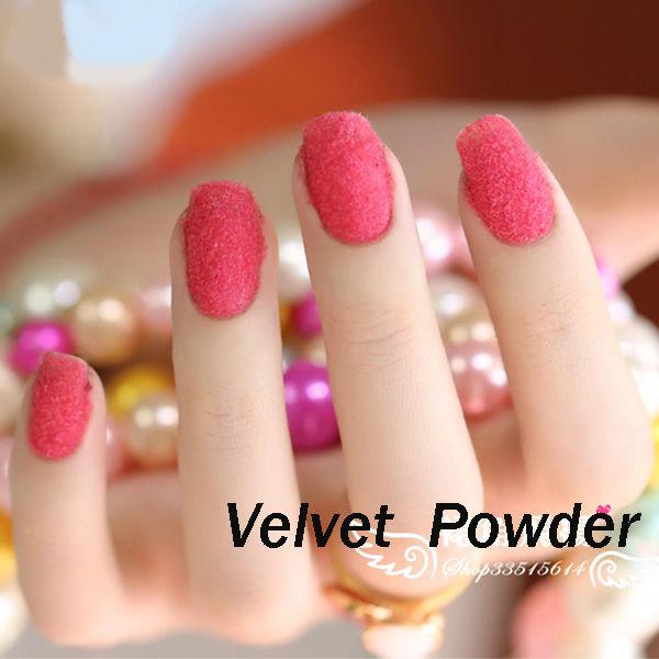 12 colori di velluto floccato manicure nail polish punte nail art ...