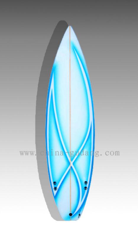 - EPS_blue_stripe_design_fiberglass_short_surfboard
