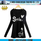 black long sleeve t shirt hand painted