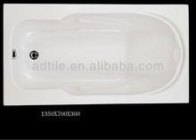 acrylic very small bathtub 135x70cm