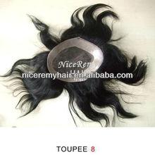 human hair toupee for men
