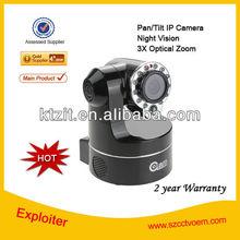 2 Year Warranty Indoor Surveillance 3*Optical Zoom CCTV IR Pan Tilt Wireless IP Network Camera
