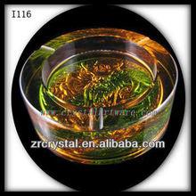 K9 cinzeiro de cristal e esmalte colorido