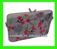 imprint 14inch flower neoprene laptop sleeve