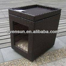 outdoor wicker pet house