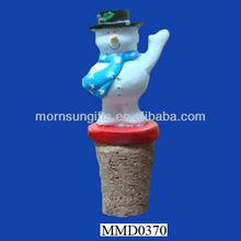 Exquisite small snowman figurine antique bottle cork