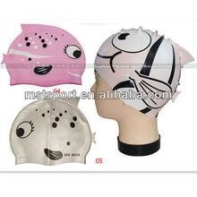 2015 New fashion children silicone swimming caps
