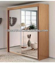 mirror sliding double door wardrobe