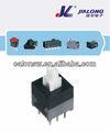 8.5*8.5mm 2p2t auto empuje de bloqueo - interruptor de botón de empuje y tire del interruptor de la venta caliente interruptor de botón de parada botón de inicio kan-w8