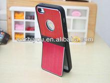 2012 luxury brushed aluminum stand stlylish case for iphone5 case ,hot sale
