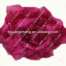 Shabby Chiffon Flower Roses,rose chiffon lace flower applique