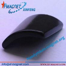 Permanent Neodymium Magnets Arc Segment Black Epoxying