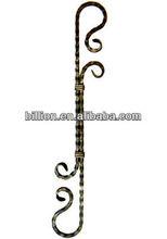 2015 china producer sand blasting case iron ornament for iron gate fence ,railings